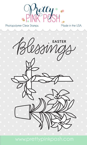 Pretty Pink Posh EASTER BLESSINGS Clear Stamp Set zoom image