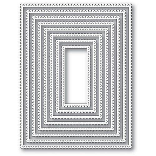 Memory Box SCALLOPED STITCH FANCY FRAMES Open Studio Craft Die 30090 ...