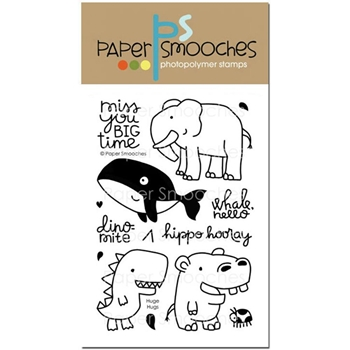 Paper Smooches HUGE HUGS Clear Stamps M1S279
