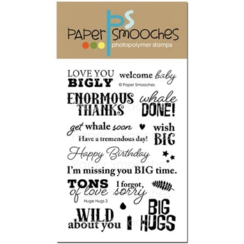 Paper Smooches HUGE HUGS 2 Clear Stamps M1S280