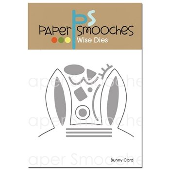 Paper Smooches BUNNY CARD Wise Dies M1D372