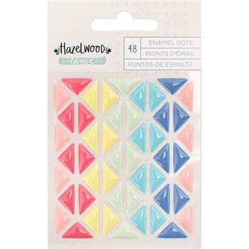 American Crafts Hazelwood ENAMEL TRIANGLES One Canoe Two Self Adhesive 376884
