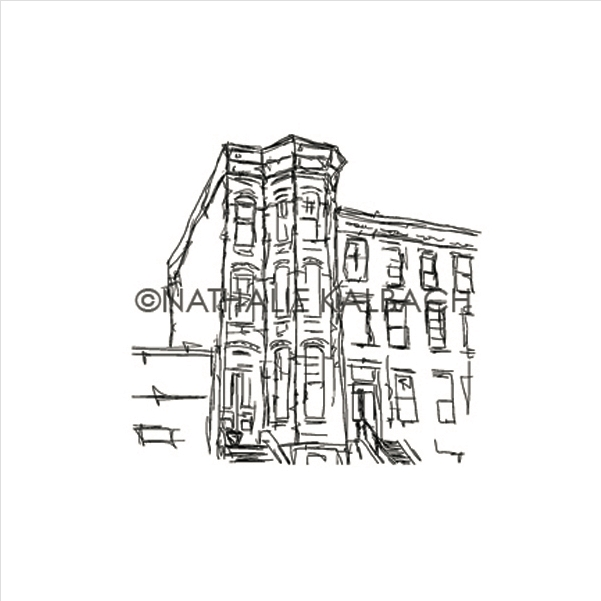 Rubbermoon Cling Stamp BROWNSTONE Nathalie Kalbach Rubber UM NK5575K zoom image