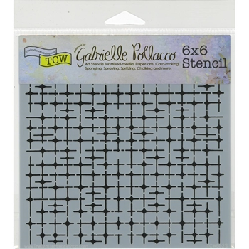 The Crafter's Workshop MINI TILE MANIA 6x6 Template TCW662S