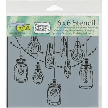 The Crafter's Workshop MINI PARTY LIGHTS 6x6 Template TCW676S