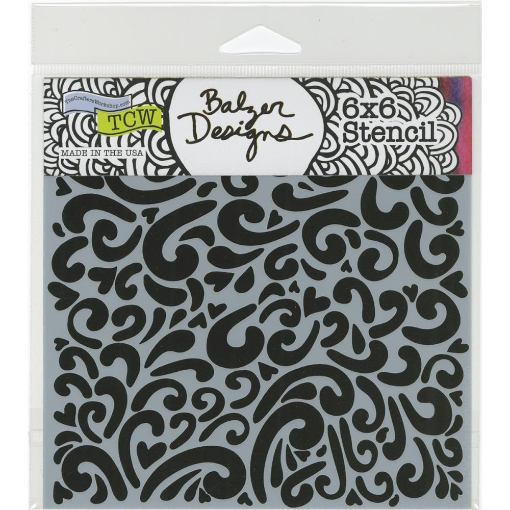 The Crafter's Workshop MINI HEART SWIRLS 6x6 Template TCW679S zoom image