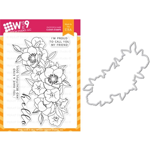 Wplus9 KIND SOUL Clear Stamp And Die Combo WPLUS382 Preview Image