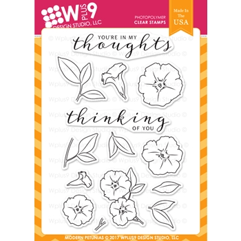 Wplus9 MODERN PETUNIAS Clear Stamps CLWP9MP