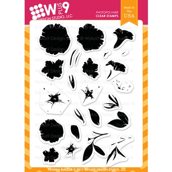 Wplus9 PETUNIA BUILDER Clear Stamps CLWP9PB