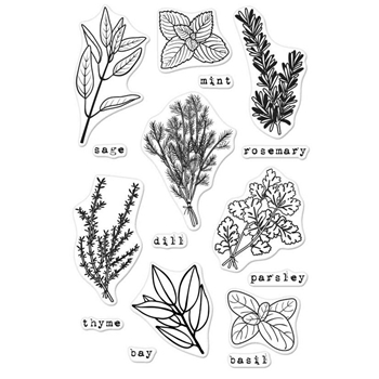 Hero Arts Clear Stamps FRESH HERBS CM155
