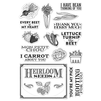 Hero arts Clear Stamp PRODUCE AND SEEDS CM156