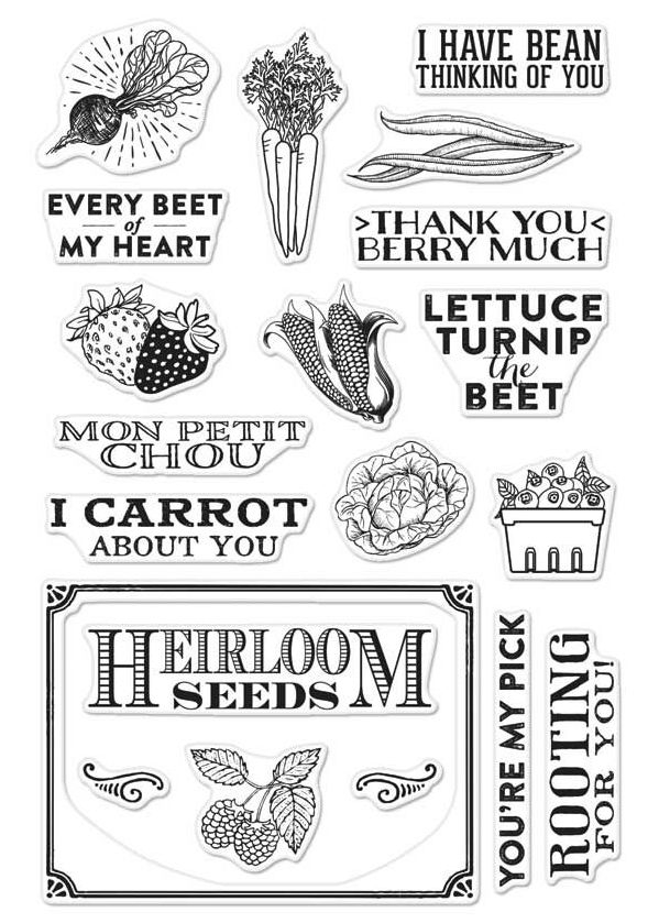 Hero arts Clear Stamp PRODUCE AND SEEDS CM156 zoom image
