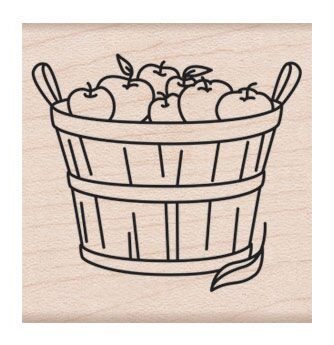 Hero Arts Rubber Stamp BASKET OF APPLES F6227 zoom image