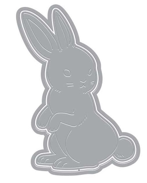 Hero Arts Fancy Die Paper Layering RABBIT with Frame DI371 zoom image