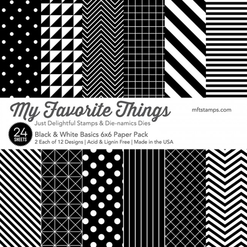 My Favorite Things BLACK AND WHITE BASICS 6x6 Paper Pack 01638 Preview Image