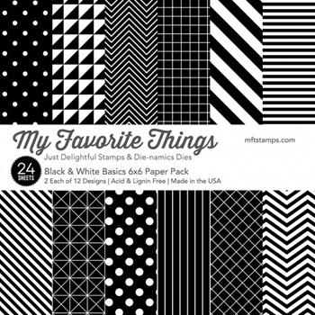 My Favorite Things BLACK AND WHITE BASICS 6x6 Paper Pack 01638