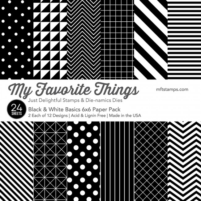 My Favorite Things BLACK AND WHITE BASICS 6x6 Paper Pack 01638 zoom image