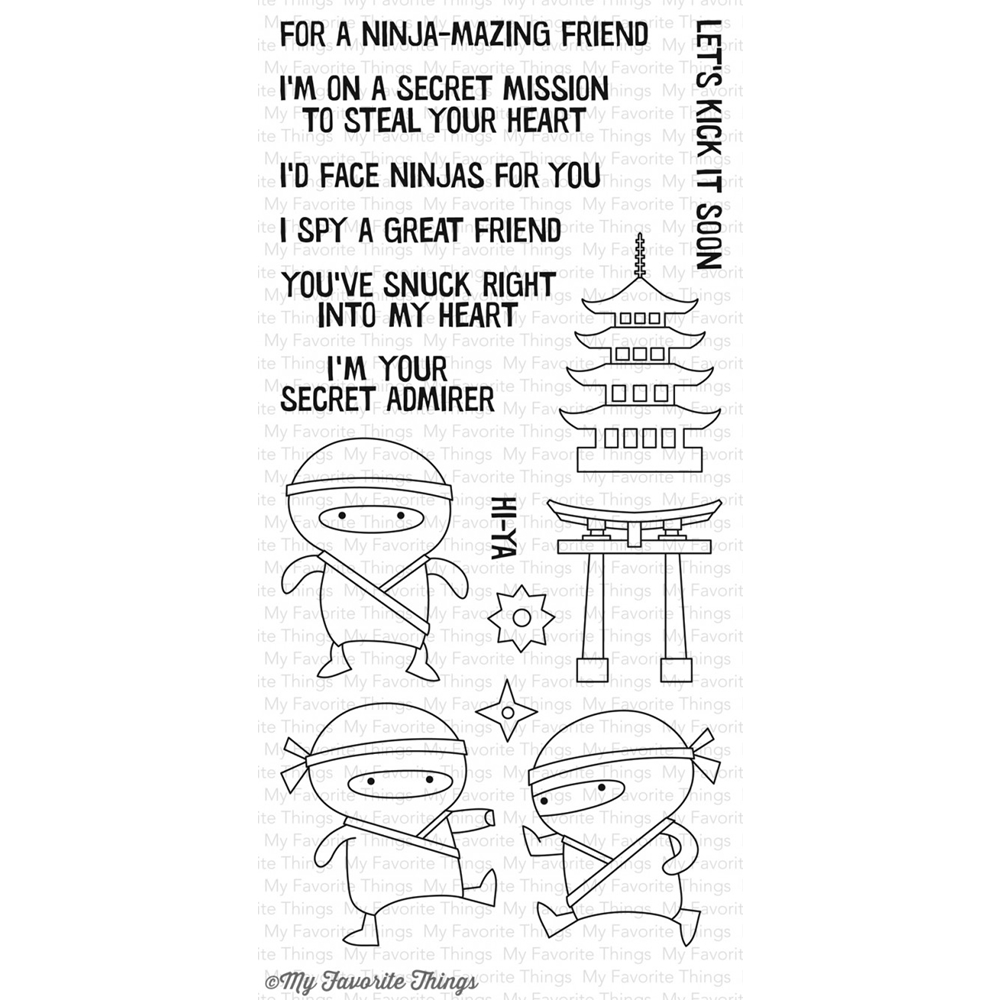 My Favorite Things NINJA-MAZING Clear Stamps CS173 zoom image
