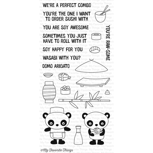 My Favorite Things SUSHI DATE Clear Stamps CS174 Preview Image