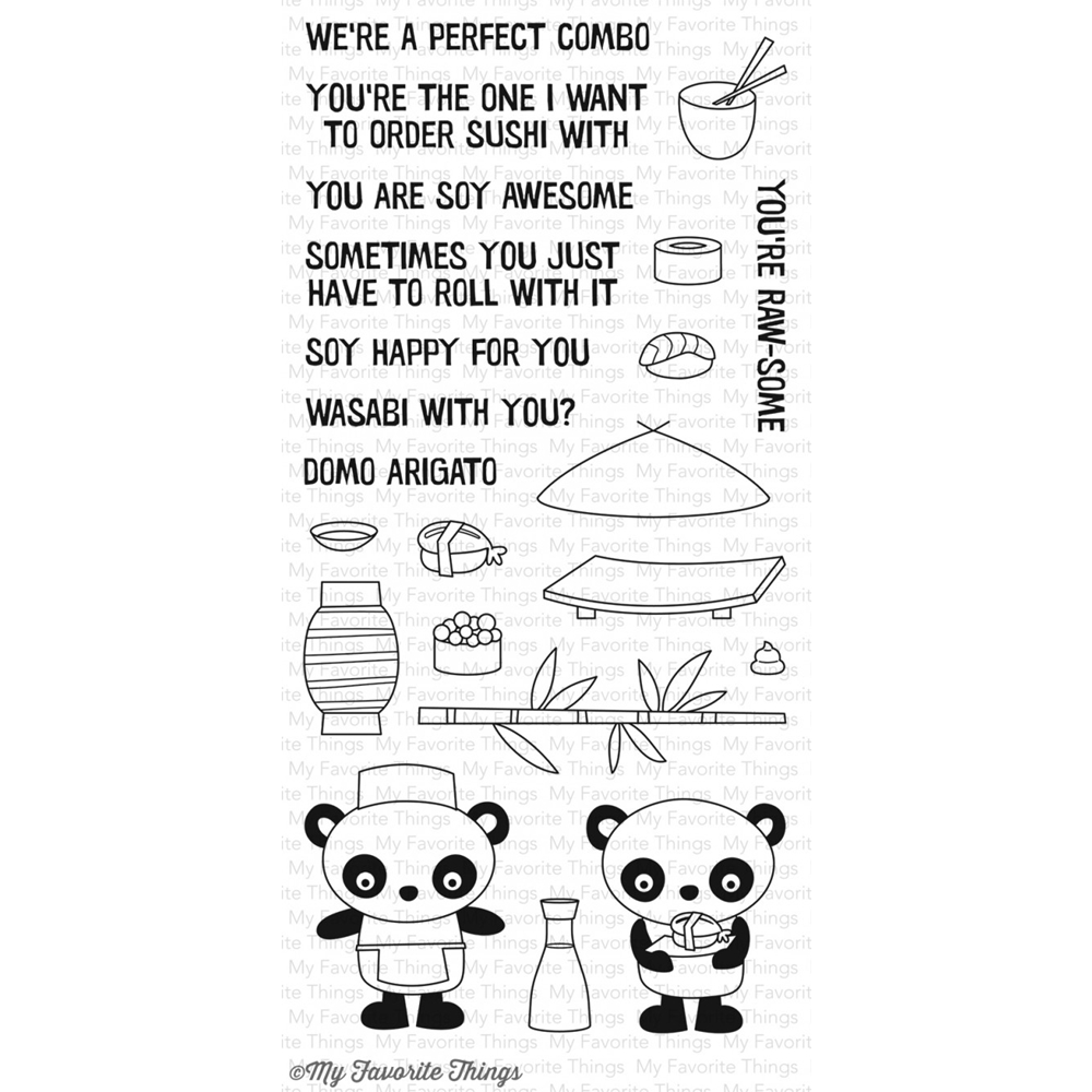 My Favorite Things SUSHI DATE Clear Stamps CS174 zoom image