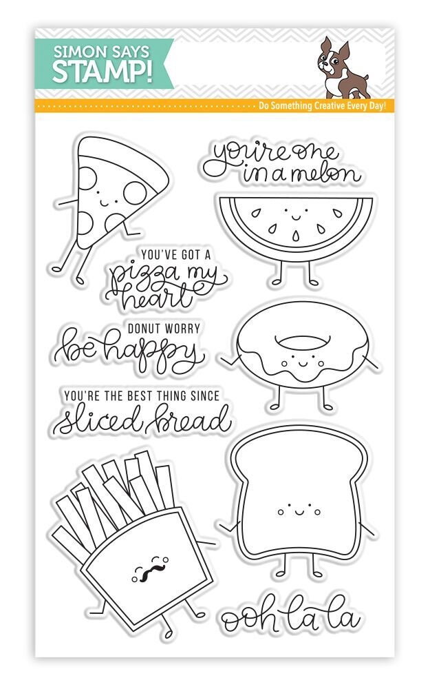 Simon Says Clear Stamps FUNNY FOOD SSS101699 New Beginnings zoom image