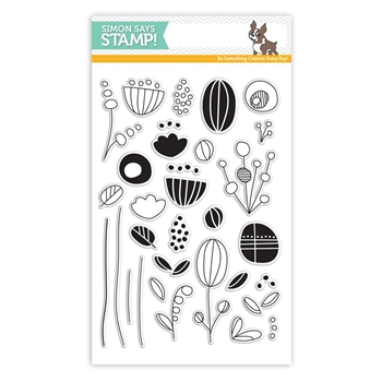 Simon Says Clear Stamps ARTSY FLOWER PARTS SSS101701 New Beginnings