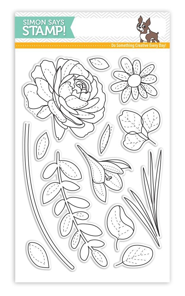Simon Says Clear Stamps MORE SPRING FLOWERS SSS101703 New Beginnings zoom image