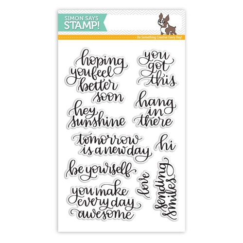 Simon Says Clear Stamps HANDLETTERED ENCOURAGEMENT SSS101705 New Beginnings Preview Image Shadow