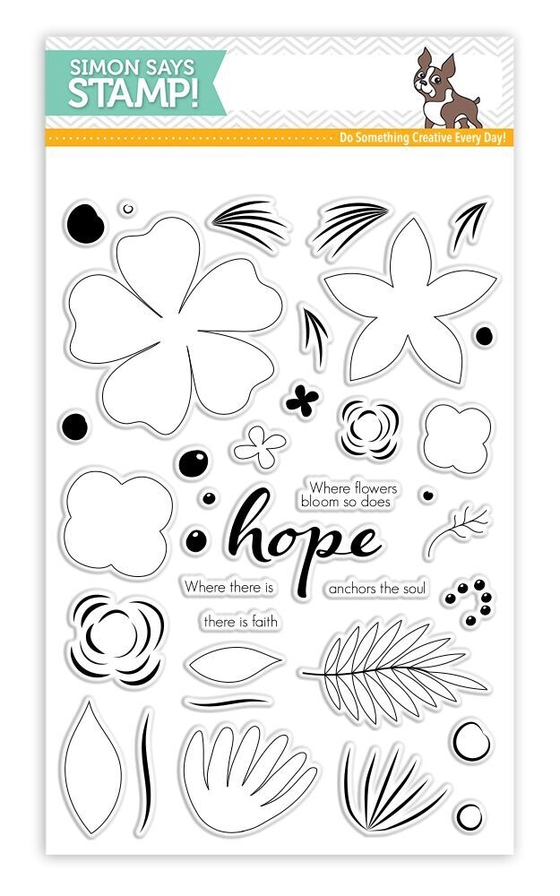 Simon Says Clear Stamps HOPE BLOOMS
