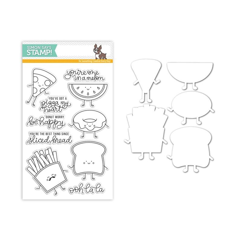 Simon Says Stamps And Dies FUNNY FOOD Set289FF New Beginnings zoom image