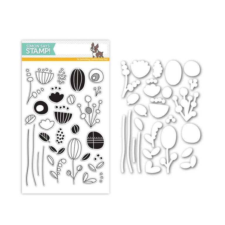 Simon Says Stamps And Dies ARTSY FLOWER PARTS Set291AFP New Beginnings zoom image