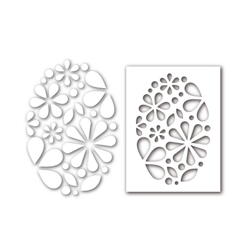 Simon Says Stamp Stencil And Dies OVAL OF FLOWERS Set292OF New Beginnings Preview Image