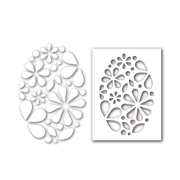 Simon Says Stamp Stencil And Dies OVAL OF FLOWERS Set292OF New Beginnings zoom image