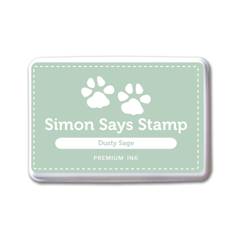 Simon Says Stamp Premium Dye Ink Pad DUSTY SAGE INK081 New Beginnings zoom image