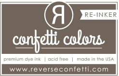 Reverse Confetti DARK ROAST DYE RE-INKER