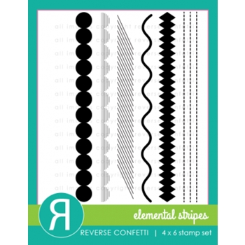 Reverse Confetti ELEMENTAL STRIPES Clear Stamp Set