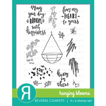 Reverse Confetti HANGING BLOOMS Clear Stamp Set