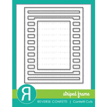 Reverse Confetti Cuts STRIPED FRAME Cover Panel Die