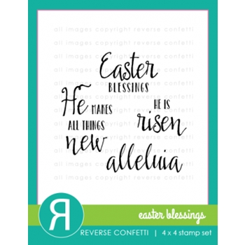 Reverse Confetti EASTER BLESSINGS Clear Stamp Set