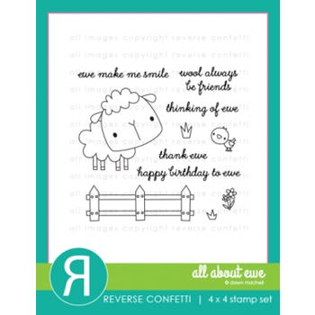 Reverse Confetti ALL ABOUT EWE Clear Stamp Set
