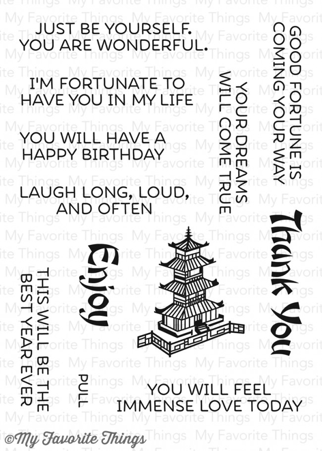 My Favorite Things GOOD FORTUNE Clear Stamps CS176 zoom image