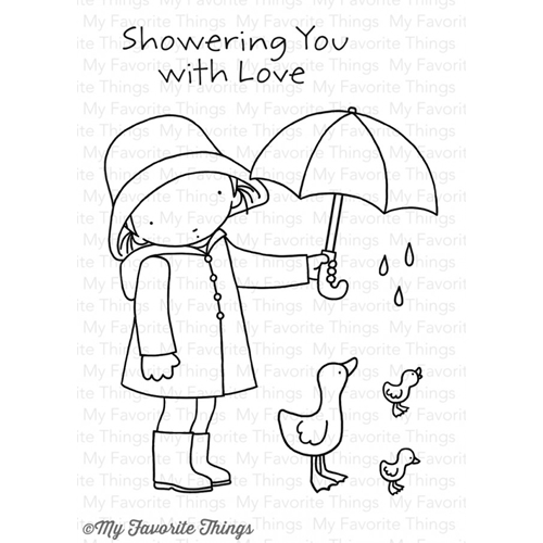 Pure Innocence SHOWERING YOU WITH LOVE Clear Stamps MFT PI260 Preview Image