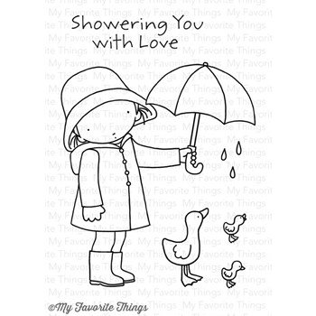 Pure Innocence SHOWERING YOU WITH LOVE Clear Stamps MFT PI260