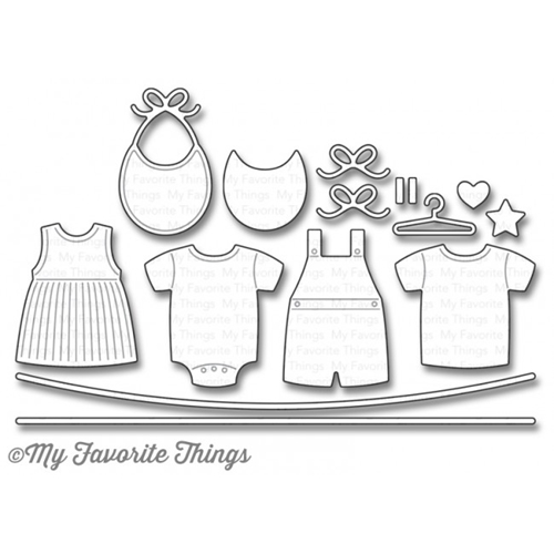 My Favorite Things BUNDLE OF BABY CLOTHES Die-Namics MFT1071 Preview Image