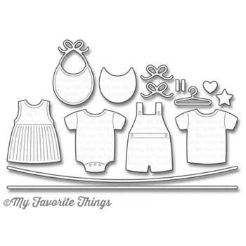 My Favorite Things BUNDLE OF BABY CLOTHES Die-Namics MFT1071
