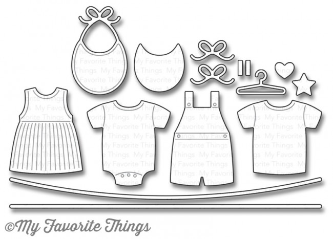 My Favorite Things BUNDLE OF BABY CLOTHES Die-Namics MFT1071 zoom image