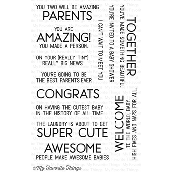 My Favorite Things WELCOME BABY Clear Stamps LLD54