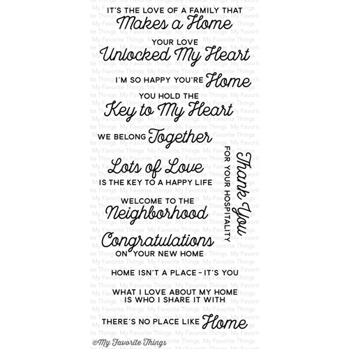 My Favorite Things NO PLACE LIKE HOME Clear Stamps CS172 Preview Image