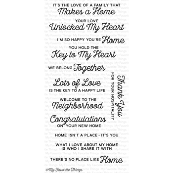 My Favorite Things NO PLACE LIKE HOME Clear Stamps CS172