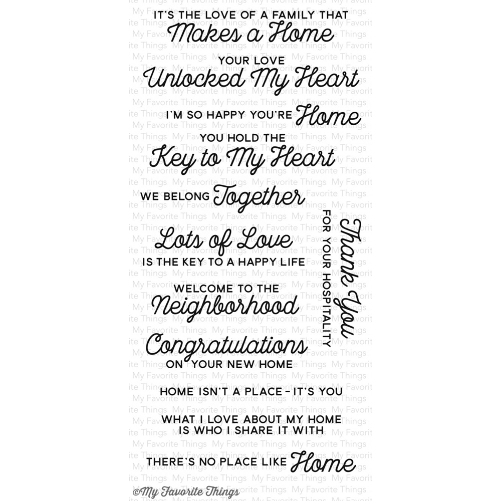 My Favorite Things NO PLACE LIKE HOME Clear Stamps CS172 zoom image